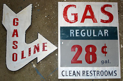 vintage gas station signs garage signs custom automobilia signs gallery 2